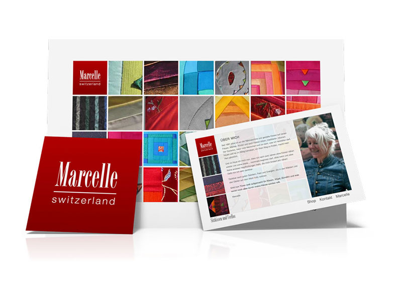 <strong>Marcelle Borer:</strong> webdesign, logo, shop